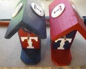 Birdhouses - Texas Rangers Small Birdhouse