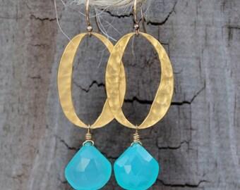 Electric Aqua Earrings