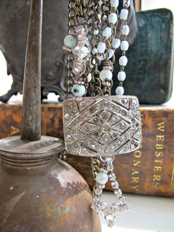 Layered Gypsy...3 strand layered vintage assemblage necklace