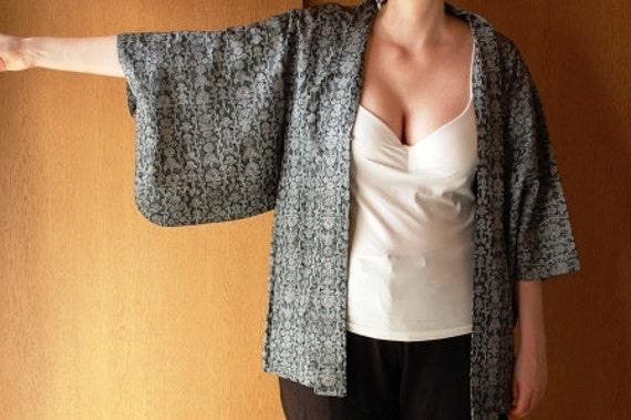 Kimono Jacket With Dotted Pattern