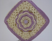 Petite Rose Pouch  in Lavender and Cream  Fully lined