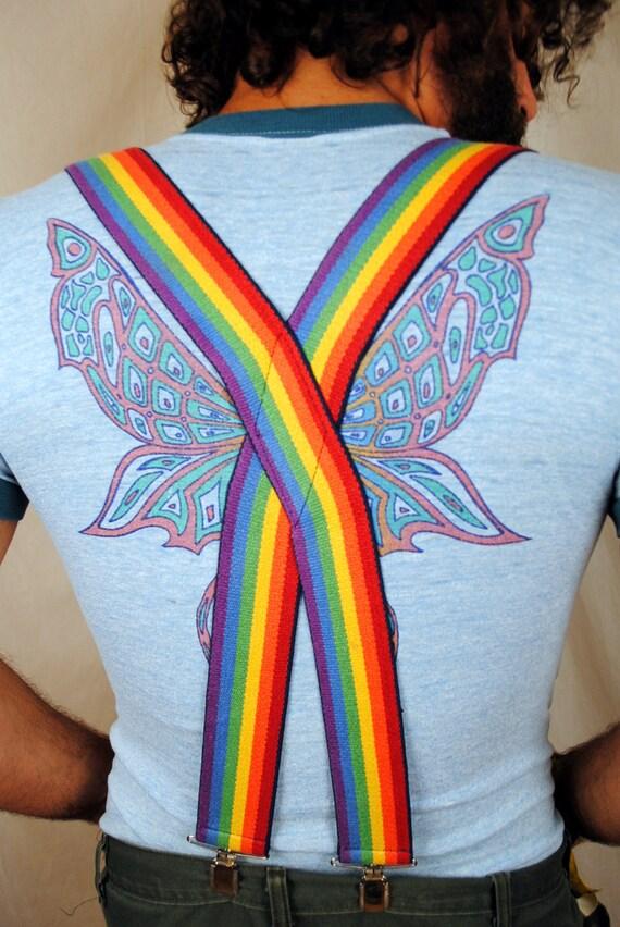Mork from Ork Vintage Rainbow Suspenders