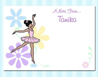 Dainty Floral Ballerina Thank You Notes (Pack of 10)