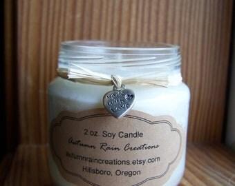 Baby Jar Natural Wax Candle 2 oz.