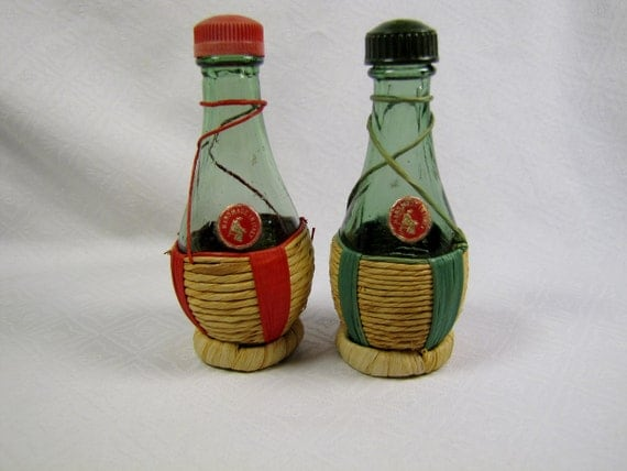 Mini Chianti Bottle Salt And Pepper Shakers