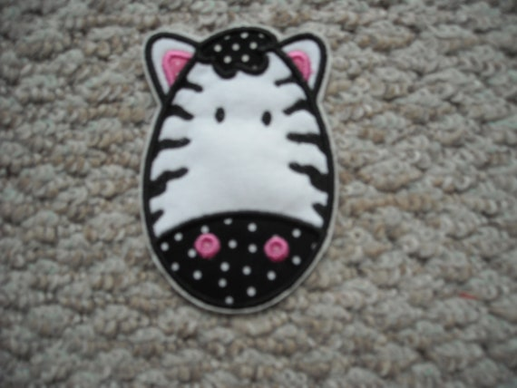 ZEBRA          Machine Embroidery     Iron on Applique       Free Shipping U.S.A.