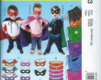 NEW McCall's Costumes Pattern MP 243 Size KIDS Small, Medium, Large Super Heros