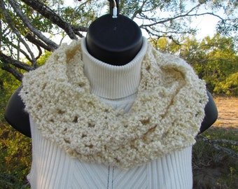 Creamy Soft, Warm Infinity Loop Scarf - Adult or Child Size - Ready to Ship - Endless Circle Scarf