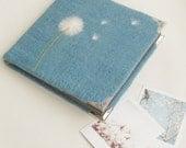 The wool felt album, felted wool cover, in handmade, art