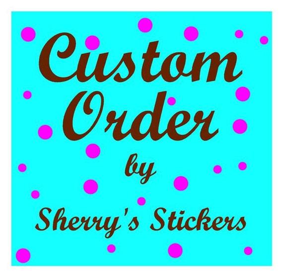 Custom Listing for (mbutler27) 6 vinyl letters