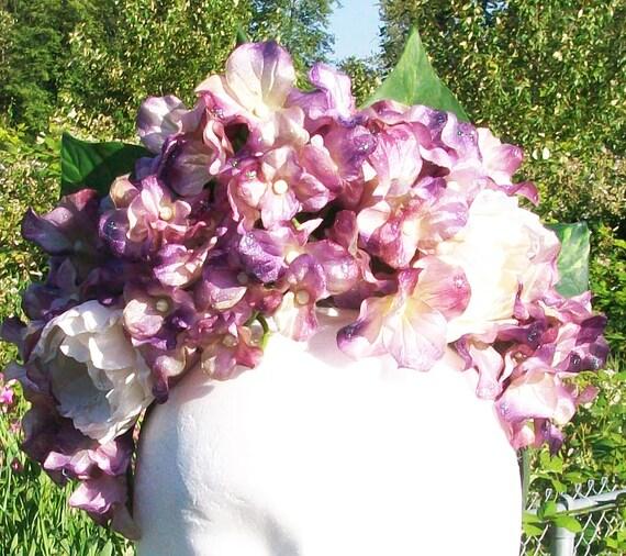 Heavenly Hydrangea floral crown - festival, faerie, wedding headpiece