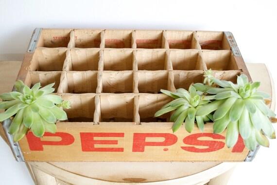 Vintage Pepsi Soda Crate from Cedar Rapids, Iowa