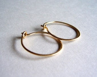 Small gold hoop earrings, gold earrings, gold hoops, mothers day gift, gift for her