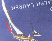 Sailboat Race Handmade Nautical Pillow Classic Lauren Designer Fabric