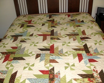 Fabulous Pieced Quilt with Pinwheels