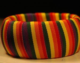 Rainbow Bangle Rainbow Ribbon Wrapped Bangle
