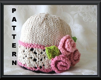 Baby Hat Pattern Knitted Hat Pattern Newborn Hat Pattern Infant Hat Pattern Flower Hat Pattern Children Clothing: YOUR PRIDE and JOY