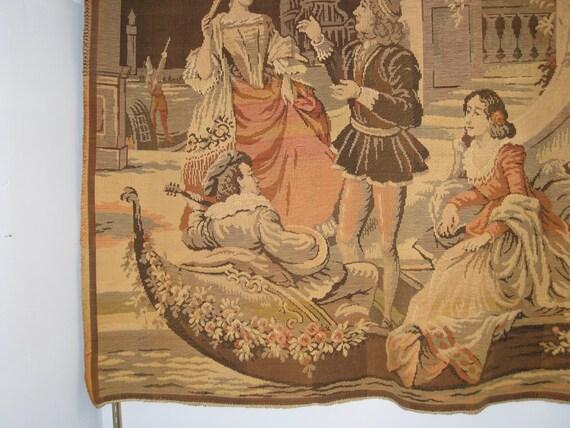 Vintage Tapestry Large Wall Hanging Old World Renaissance