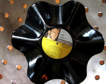 Frank Sinatra Genuine 33rpm Upcycled LP Record Bowl on Reprise Records Classic 1960's Pressing and Graphics