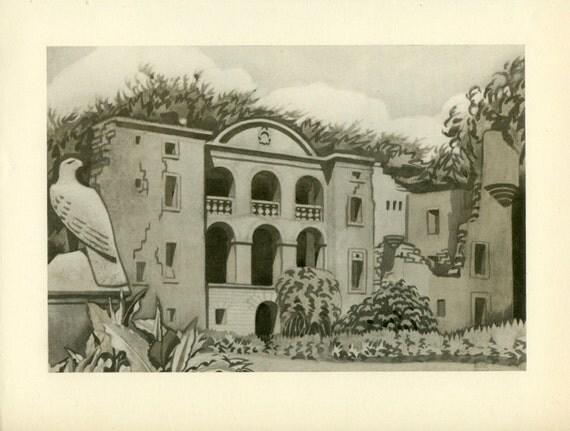 Fife: Craighall, Ceres, Scotland, Vintage Print 47, 1952, Keith Henderson, Britain World War 2, WW2, Wartime Art, War Artist