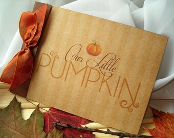 Little Pumpkin Rustic Baby Shower Invitation... SAMPLE