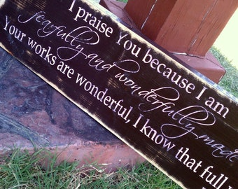 Psalm 139:14  Fearfully and wonderfully made, great nursery decor