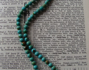 BOXING DAY PRICED Turquoise Beaded Perfectly Matched strand with Sterling Silver Charm