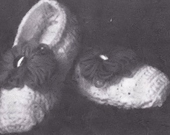Crocheted Travel Slippers Vintage Pattern
