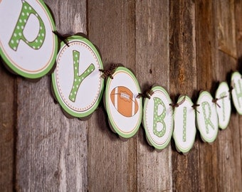 Football theme HAPPY BIRTHDAY Banner Football Birthday Party, Football Decorations, Sports Party
