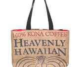 Heavenly Hawaiian Kona Coffee tote with Angel