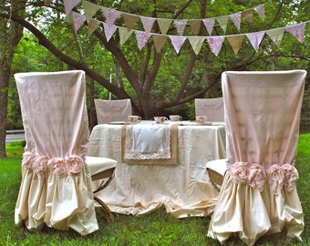 Pink Garden Chair Cover