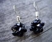 Swarovski Dark Black Crystals Earrings