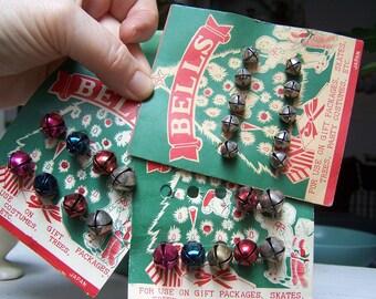 Jingle Bells Lot Japan Christmas tree ephemera 1960 VINTAGE by Plantdreaming