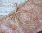 Antique Lace Collage Skirt in Anitque Pink Paisley M/L