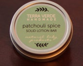 patchouli spice natural solid lotion bar