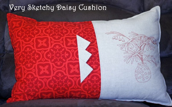 Very Sketchy Daisy Cushion