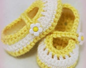Newborn Slippers Crochet Pattern for Baby Teaparty Maryjanes -  4 sizes - Newborn to 12 months. 2 strap style options included. digital