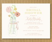 Mason Jar Bridal Shower Invitation - Printable