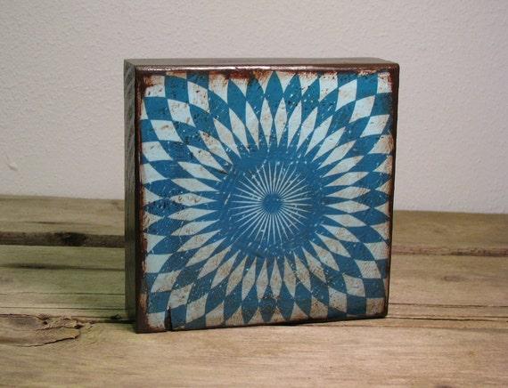 Op Art Atomic Retro Art Block Painting--MatchBlox-1423