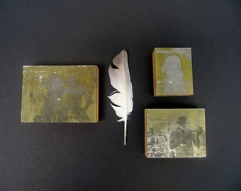 Printing Press Photography Blocks Bearded Men Letterpress
