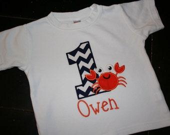 Crab Birthday Shirt