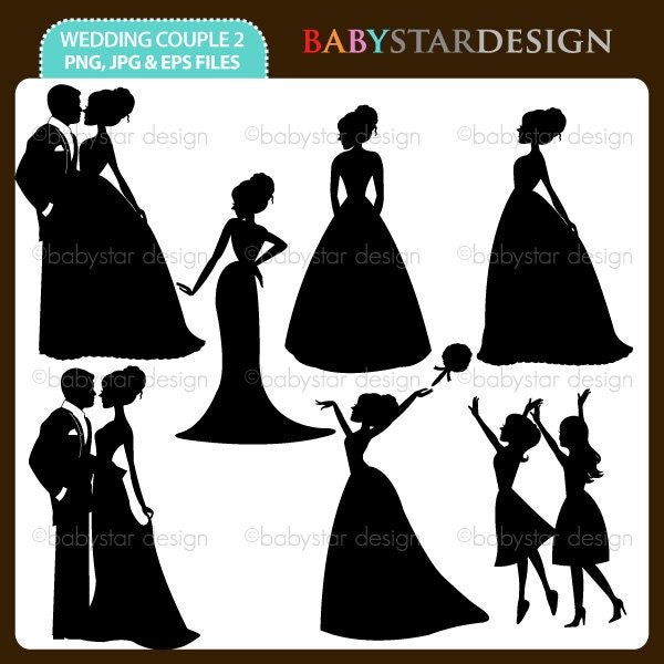 2020 Other | Images: Wedding Party Silhouette Clip Art Program