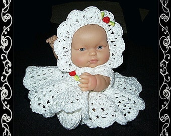 doll clothes, doll dress, crochet doll clothes, crochet doll dress, doll clothing, doll outfit, baby doll dress, crochet for dolls, doll set