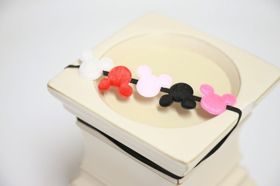 Mickey & Mini Mouse Appliqué Headband