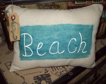 shabby beach COTTAGE small pillow,BEACH decor,Beach house,SHABBY chic,Beach bedroom decor,
