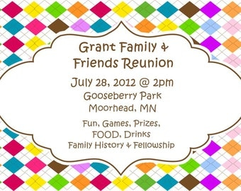 Customizable Family Reunion invitations