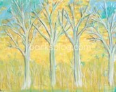 Fall trees - Art Print
