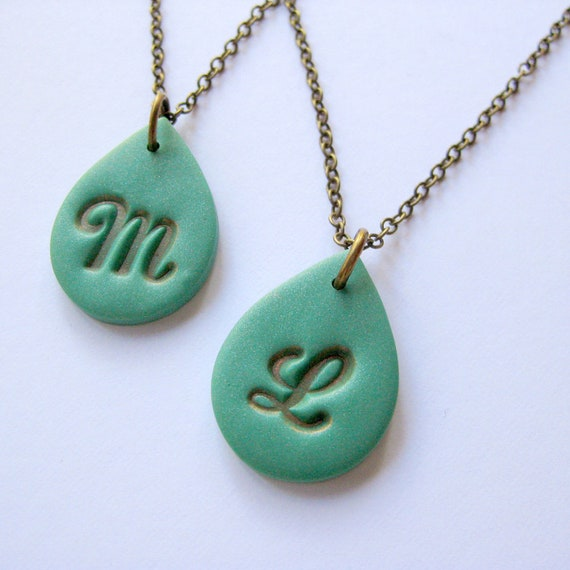 Items Similar To Custom Initial Necklace On Etsy