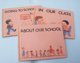 Books to Help First Timers go to School / 1968 / Hardcover Set of Three