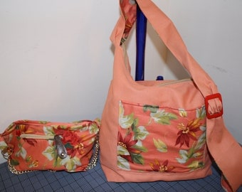 Hand Crafted  Beauitful HoBo Hippie-Crossbody bag with coin Purse-Christmas Sale.